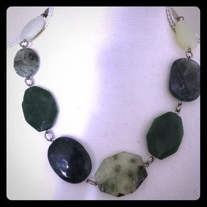 Loft Green Marble Bead Necklace 🌲